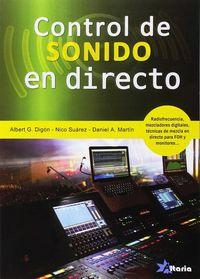CF - CONTROL DE SONIDO EN DIRECTO
