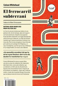 Ferrocarril Subterrani, El (premi Book Award 2016) - Colson Whitehead