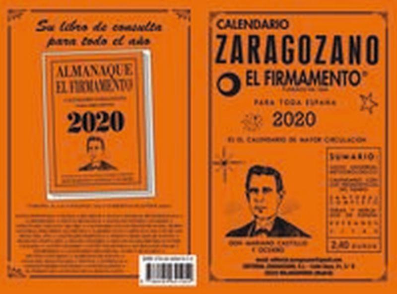 2020 - CALENDARIO ZARAGOZANO - EL FIRMAMENTO