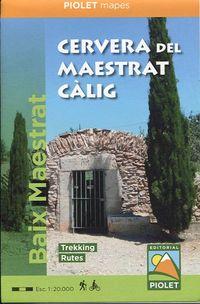 MAPE CERVERA DEL MAESTRAT CALIG - BAIX MAESTRAT 1: 20000