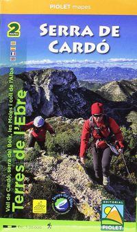 SERRA DE CARDO - TERRES DE L'EBRE 1: 20000