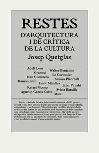 RESTES D'ARQUITECTURA I CRITICA DE LA CULTURA