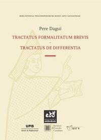 Tractatus Formalitatum Brevis - Tractatus De Differentia - Pere Dagui