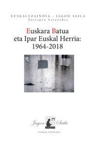 EUSKARA BATUA ETA IPAR EUSKAL HERRIA (1964-2018) KOLOKIOAREN AGIRIAK