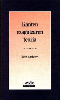 KANTEN EZAGUTZAREN TEORIA