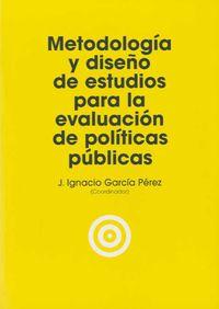 METODOLOGIA Y DISEÑO DE ESTUDIOS PARA LA EVALUACION DE POLITICAS PUBLICAS
