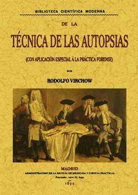 TECNICA DE LAS AUTOPSIAS