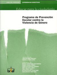 PROGRAMA DE PREVENCION ESCOLAR CONTRA LA VIOLENCIA DE GENERO - LIBRO DEL PROFESOR