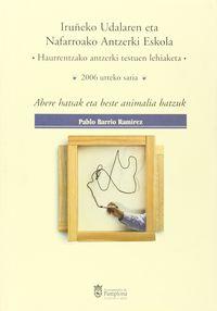 abere hatsak eta beste animalia batzuk - Pablo Barrio