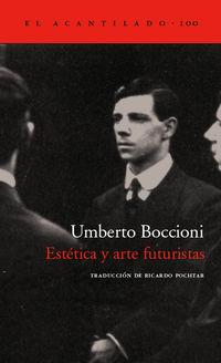 Estetica Y Arte Futuristas - Umberto Boccioni