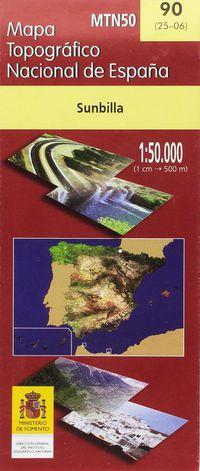 MAPA SUMBILLA 90 1: 50000