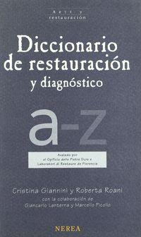 DICC. DE RESTAURACION Y DIAGNOSTICO