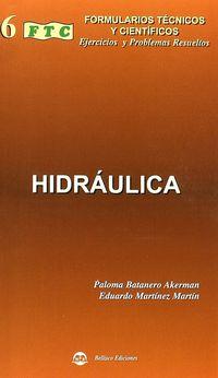 Formulario De Hidraulica - Paloma  Batanero Akerman  /  Eduardo  Martinez Martin