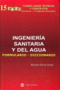 INGENIERIA SANITARIA Y DEL AGUA - FORMULARIO DICCIONARIO