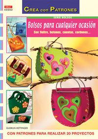 BOLSOS PARA CUALQUIER OCASION, CON FIELTRO, BOTONES, CUENTAS,