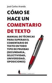 Como Se Hace Un Comentario De Texto - Jose Carlos Aranda