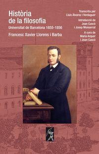 HISTORIA DE LA FILOSOFIA - UNIVERSITT DE BARCELONA (1855-1856)