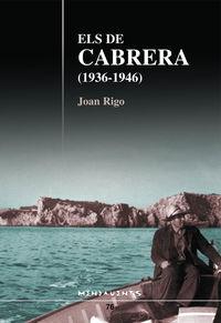 ELS DE CABRERA (1936-1946) - EL TESTIMONI DE JERONI BONET DE CABRERA