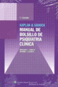 Manual De Bolsillo De Psiquiatria Clinica - Benjamin J.  Sadock  /  Virginia J.  Sadock