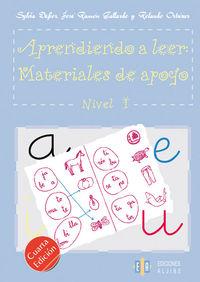 APRENDIENDO A LEER - MATERIALES DE APOYO NIVEL 1