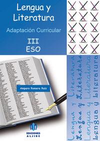 ESO 3 - LENGUA Y LITERATURA - ADAPTACION CURRICULAR