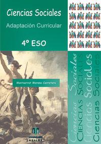 ESO 4 - CIENCIAS SOCIALES - ADAPTACION CURRICULAR