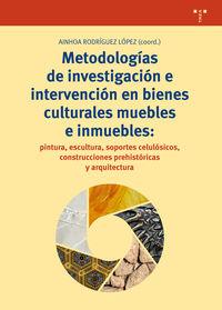 METODOLOGIAS DE INVESTIGACION E INTERVENCION EN BIENES CULTURALES MUEBLES E INMUEBLES - PINTURA, ESCULTURA, SOPORTES CELULOSICOS, CONSTRUCCIONES PREHISTORICAS Y ARQUITECTURA