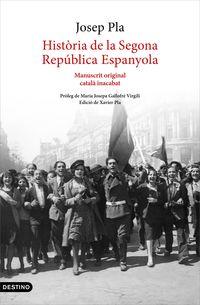 HISTORIA DE LA SEGONA REPUBLICA ESPANYOLA - MANUSCRIT ORIGINAL CATALA INACABAT