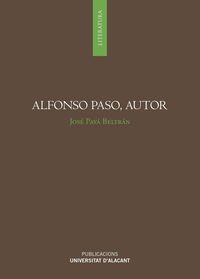 Alfonso Paso, Autor - Jose Paya Beltran