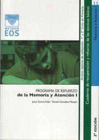 Programa De Refuerzo - Memoria Y Atencion I - Jesus Garcia Vidal