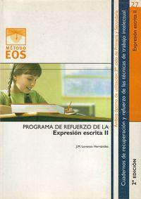 Programa De Refuerzo De La Expresion Escrita Ii - J. M. Lorenzo Hernandez