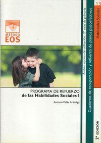 Programa Refuerzo Habilidades Sociales I - Antonio Valles Arandiga