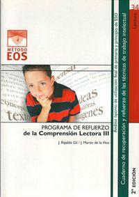 Programa De Refuerzo De La Comprension Lectora Iii (4ªed. ) - J.  Ripalda Gil  /  J.  Martin De La Hoz