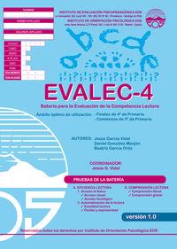 evalec 4 - bateria evaluacion competencia lectora - Jesus Garcia Vidal / Daniel Gonzalez Manjon / Beatriz Garcia Ortiz