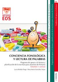 CONCIENCIA FONOLOGICA Y LECTURA DE PALABRAS
