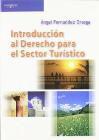 INTRODUCCION AL DERECHO PARA EL SECTOR TURISTICO