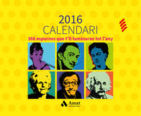 2016 - calendari - 366 espurnes que t'illuminaran tot l'any - Aa. Vv.