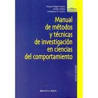 MANUAL DE METODOS Y TECNICAS INVESTIGACION EN CIENCIAS DEL COMPORTAMIE