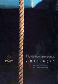 mende berrirako ipuinak - antologia - Mari Jose Olaziregi