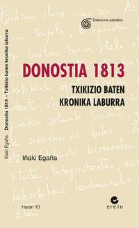 DONOSTIA 1813 - TXIKIZIO BATEN KRONIKA LABURRA