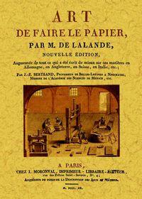 ART DE FAIRE LE PAPIER