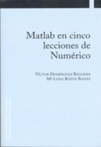 Matlab En Cinco Lecciones De Numerico - Victor Dominguez Baguena / Rapun