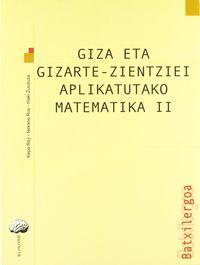 Batx 2 - Matematika Ii (gizarte Zientziak) - Rey  /  Ros  /  Zurutuza