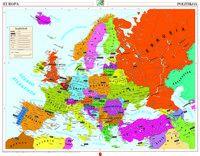 Mapa Murala - Europa Fisiko Politikoa 121x97 -