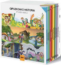 (KAXA) GIPUZKOAKO HISTORIA IPUINEN BIDEZ (11 IPUIN + DVD-ROM BIKOITZA)