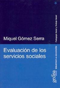 EVALUACION DE LOS SERVICIOS SOCIALES