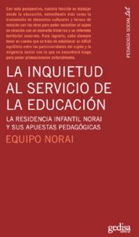 INQUIETUD AL SERVICIO DE LA EDUCACION, LA