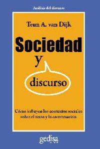 Sociedad Y Discurso - Teun A. Van Dijk