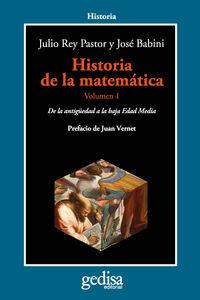 HISTORIA DE LA MATEMATICA VOL. I