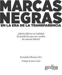 Marcas Negras En La Era De La Transparencia - Fernando Olivares (ed. )